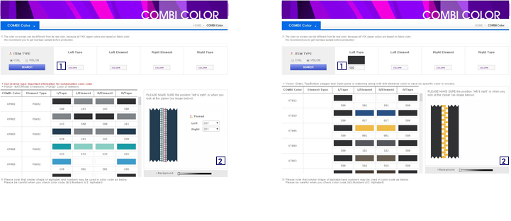 Ykk Web Color Library